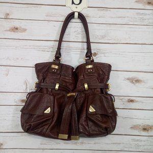 B Makowsky Brown Leather Purse EUC